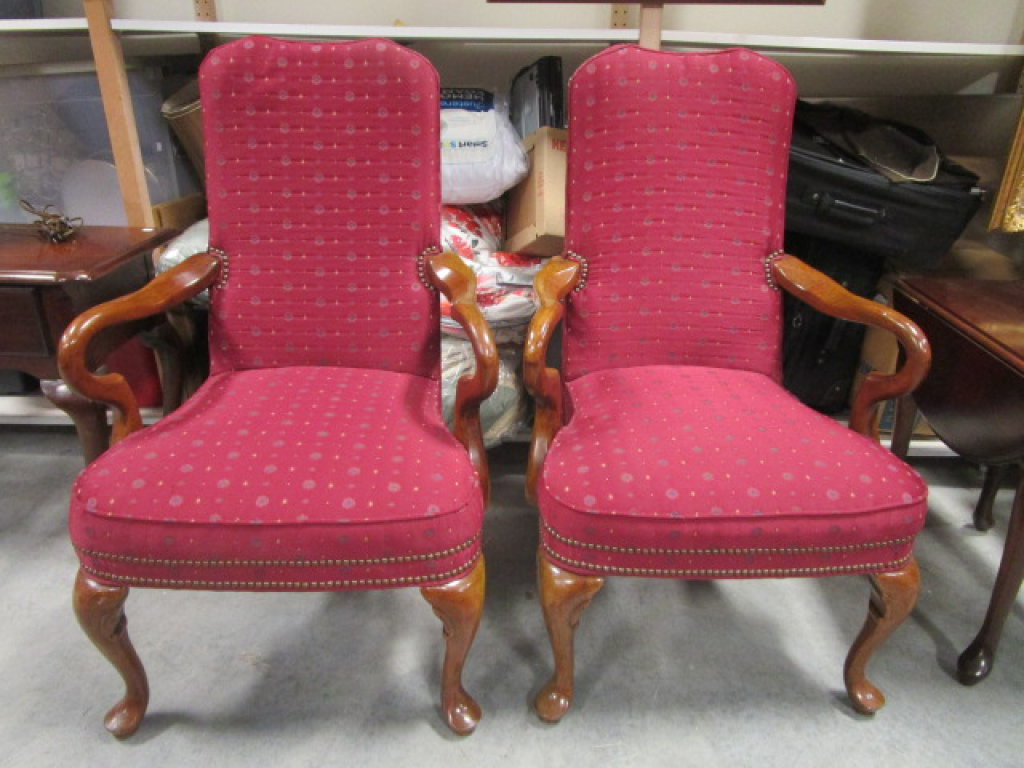 Fairfield Chairs Pair Fairfield Chair Co Uphol Auctions Online Proxibid