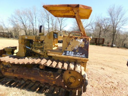 small resolution of  sold caterpillar d 3b dozer minus root rake with hole