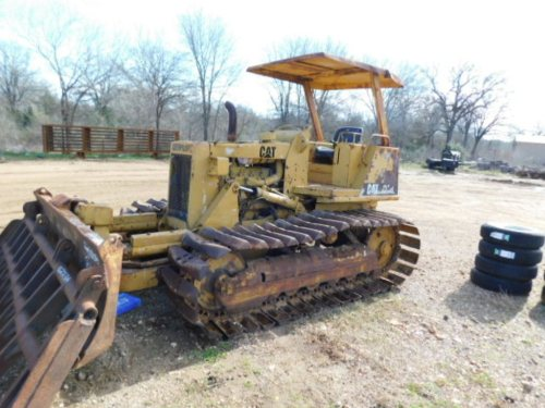 small resolution of  not sold caterpillar d 3b dozer minus root rake with hole