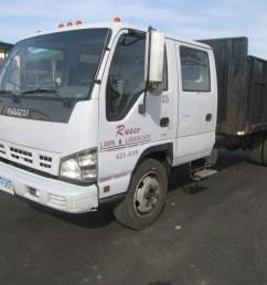 2006 isuzu nqr cabover crew cab dump truck  [ 1024 x 768 Pixel ]