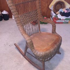 Vintage Wicker Rocking Chair Dining Captain Chairs Auctions Online Proxibid