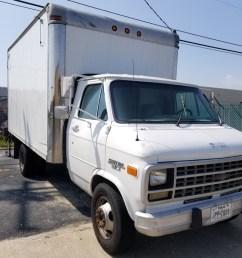 box truck 1992 chevy van 30 inner city box with lift gate [ 768 x 1024 Pixel ]