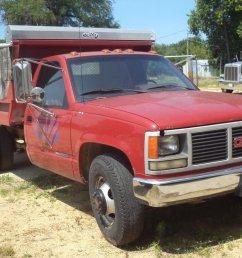 1991 gmc sierra 2500hd dump truck  [ 1024 x 768 Pixel ]