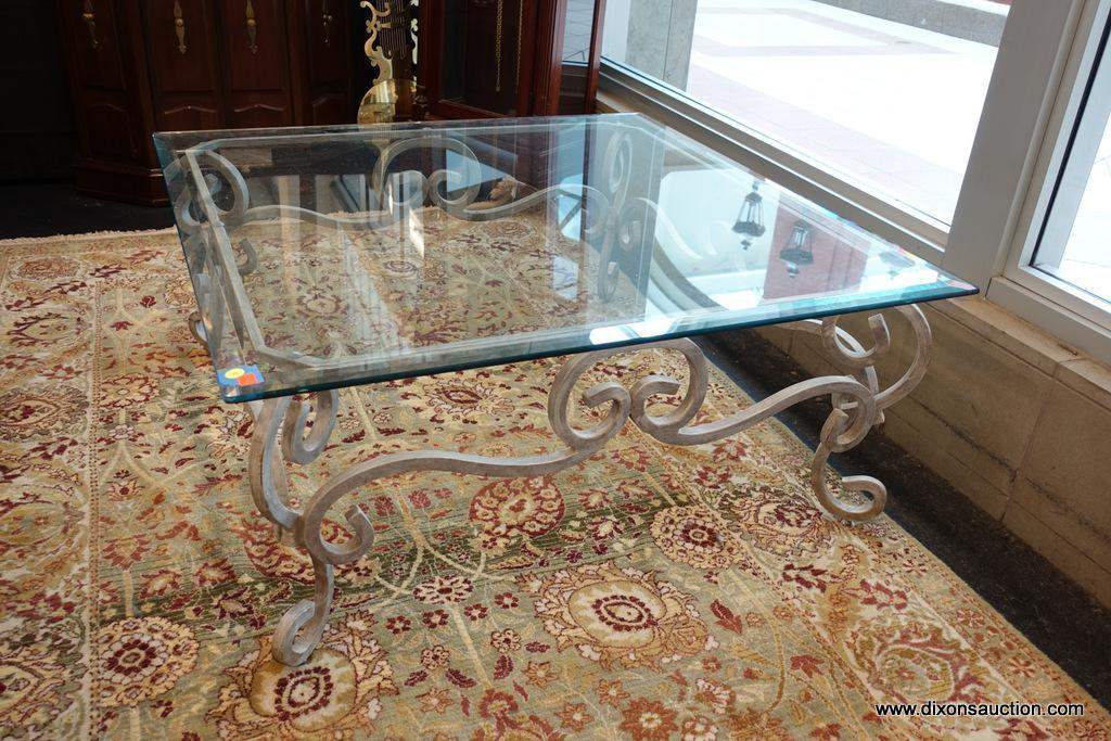 win square glass top coffee table