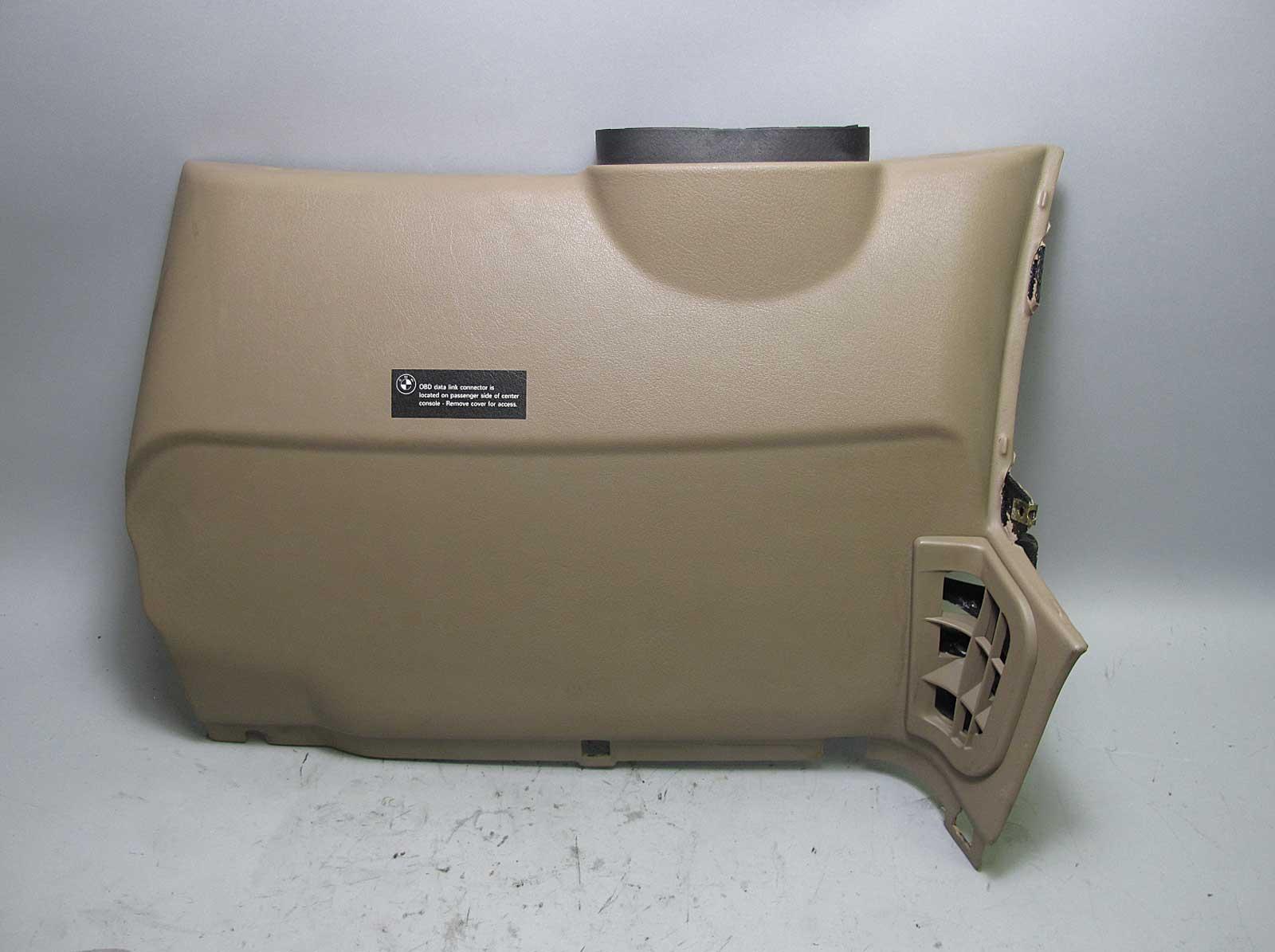 hight resolution of details about bmw z3 dashboard left drivers lower knee bolster trim panel beige 1996 2002 oem