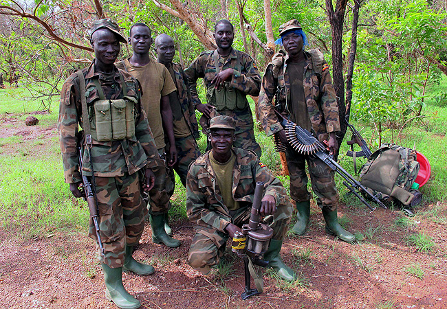 UPDF troops in C.A.R
