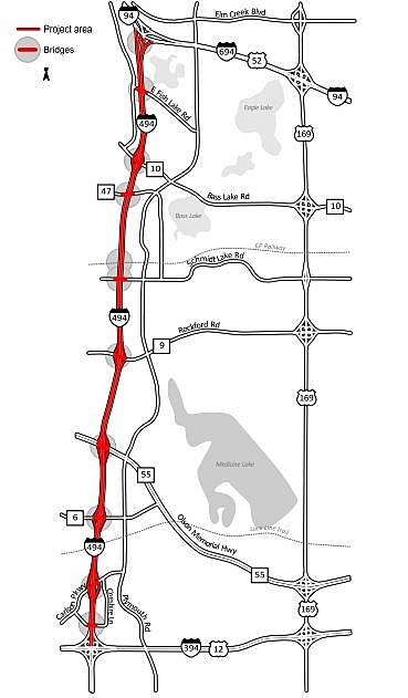 Parts of I-494 in west metro closed, I-94 in St. Paul