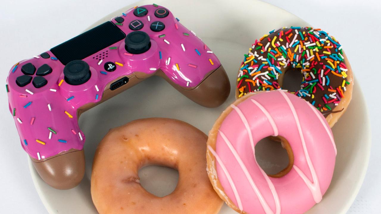 this custom donut dualshock