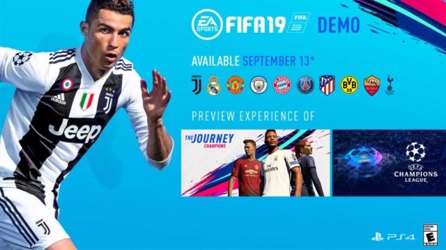 FIFA 19 Demo PS4 Teams