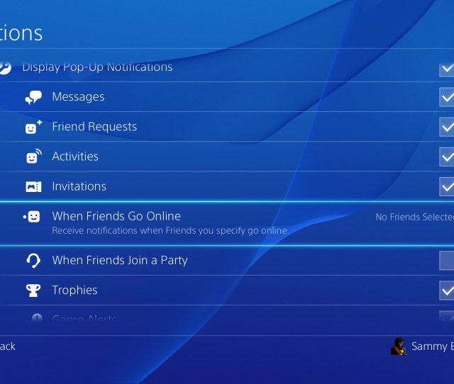 How To Enable Online Friend Notifications Ps Guides