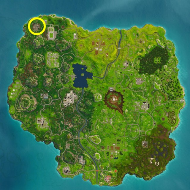 Fortnite Haunted Hills Treasure Map Location Guide 2