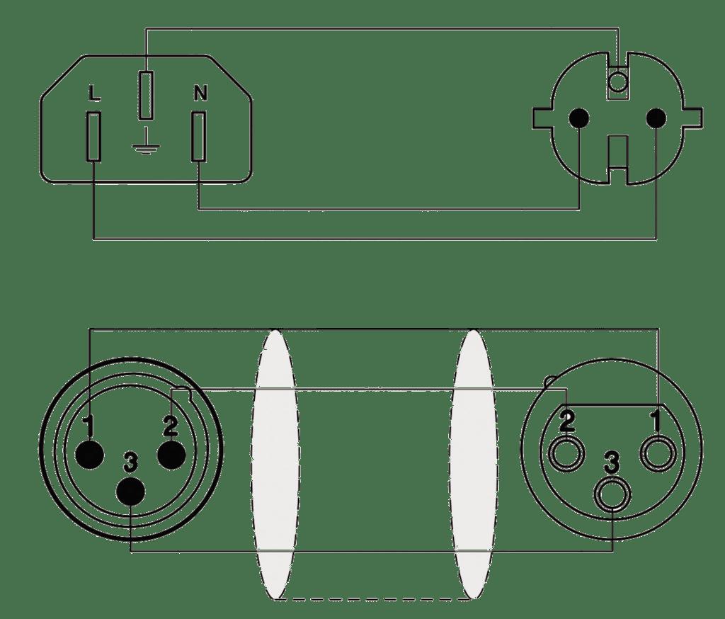 medium resolution of wiring diagram cab402 schuko power male xlr female euro power female xlr