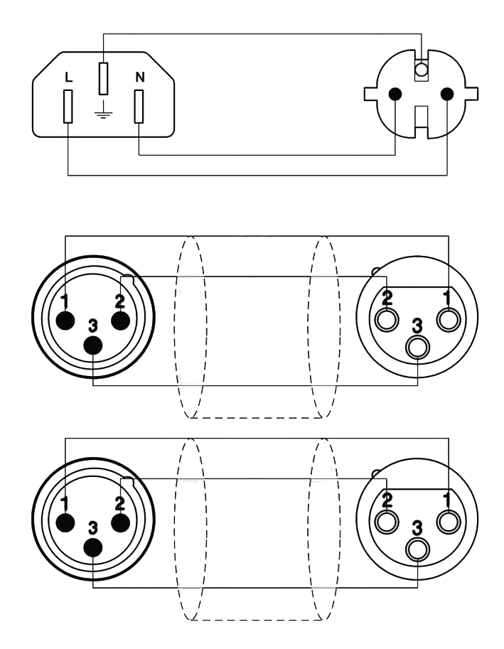 wiring diagram cab405 schuko power male 2 x xlr female euro power female  [ 1024 x 1319 Pixel ]