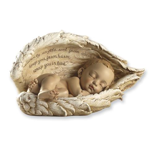 QGoldcom Josephs Studio Guardian Angel Baby Figurine