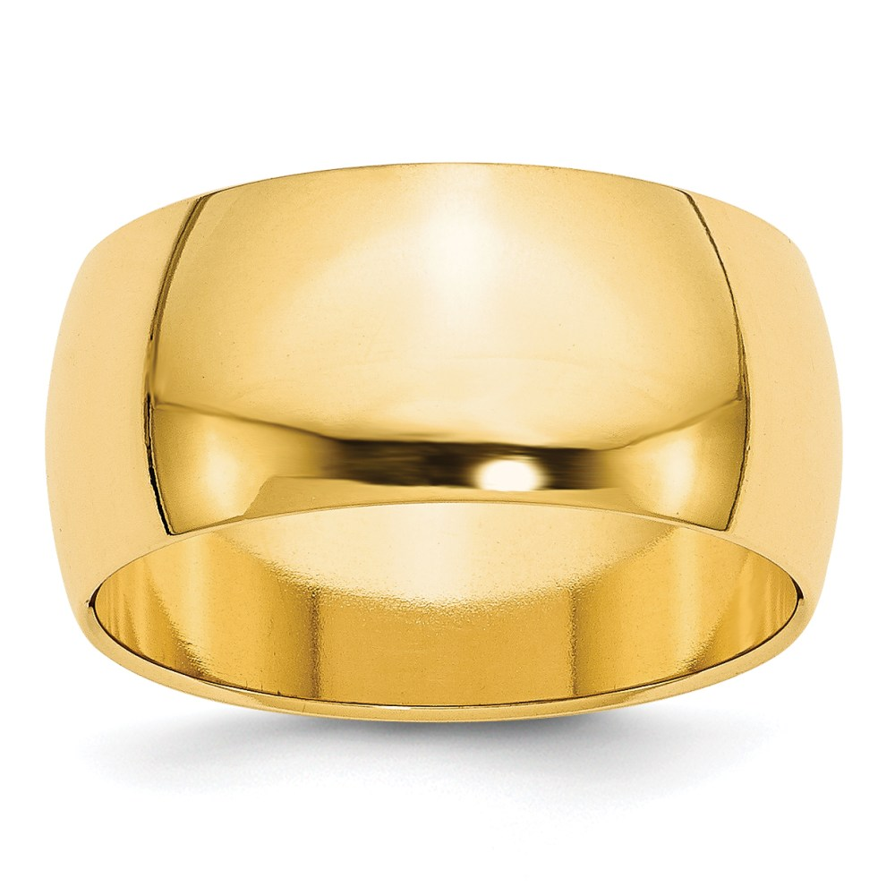 14k Yellow Gold 10mm Engravable Band
