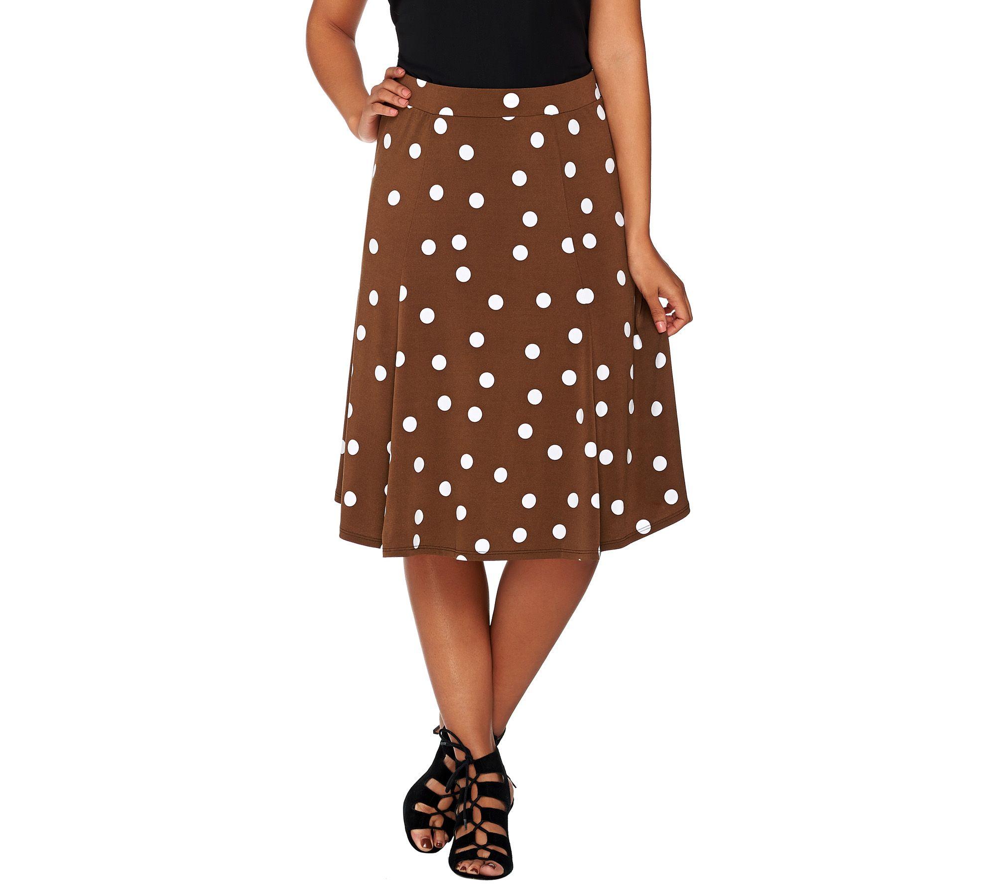 Susan Graver Printed Liquid Knit Comfort Waist Skirt