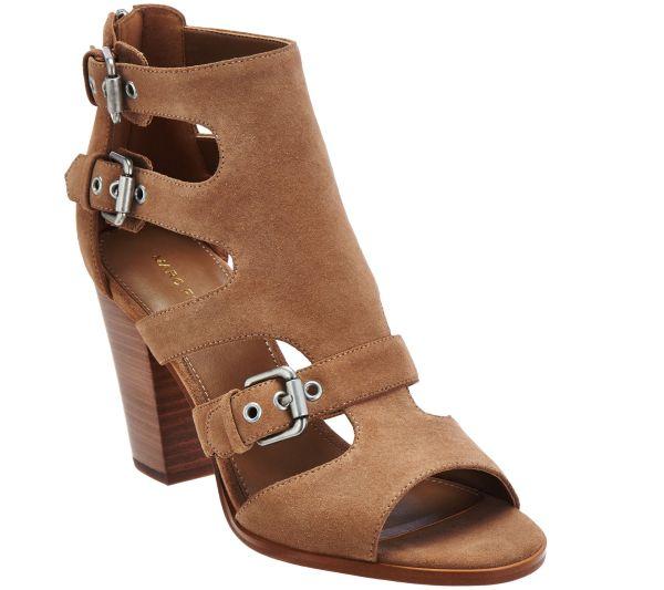 Marc Fisher Suede Cutout Sandals - Calinda