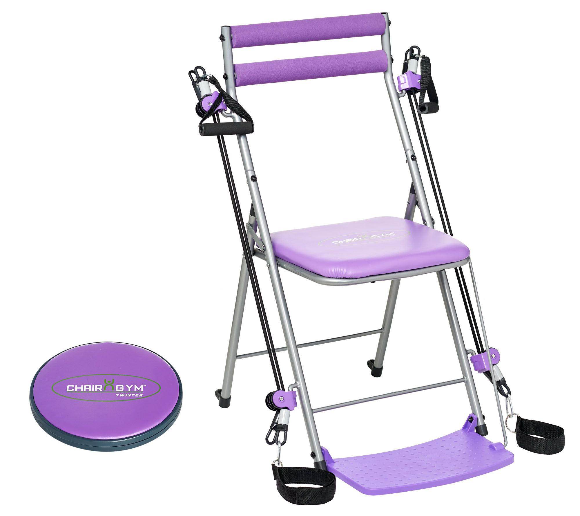 chair gym exercise system with twister seat indoor indian swing workout 3 levels of resistance and 5 dvds page 1 qvc com