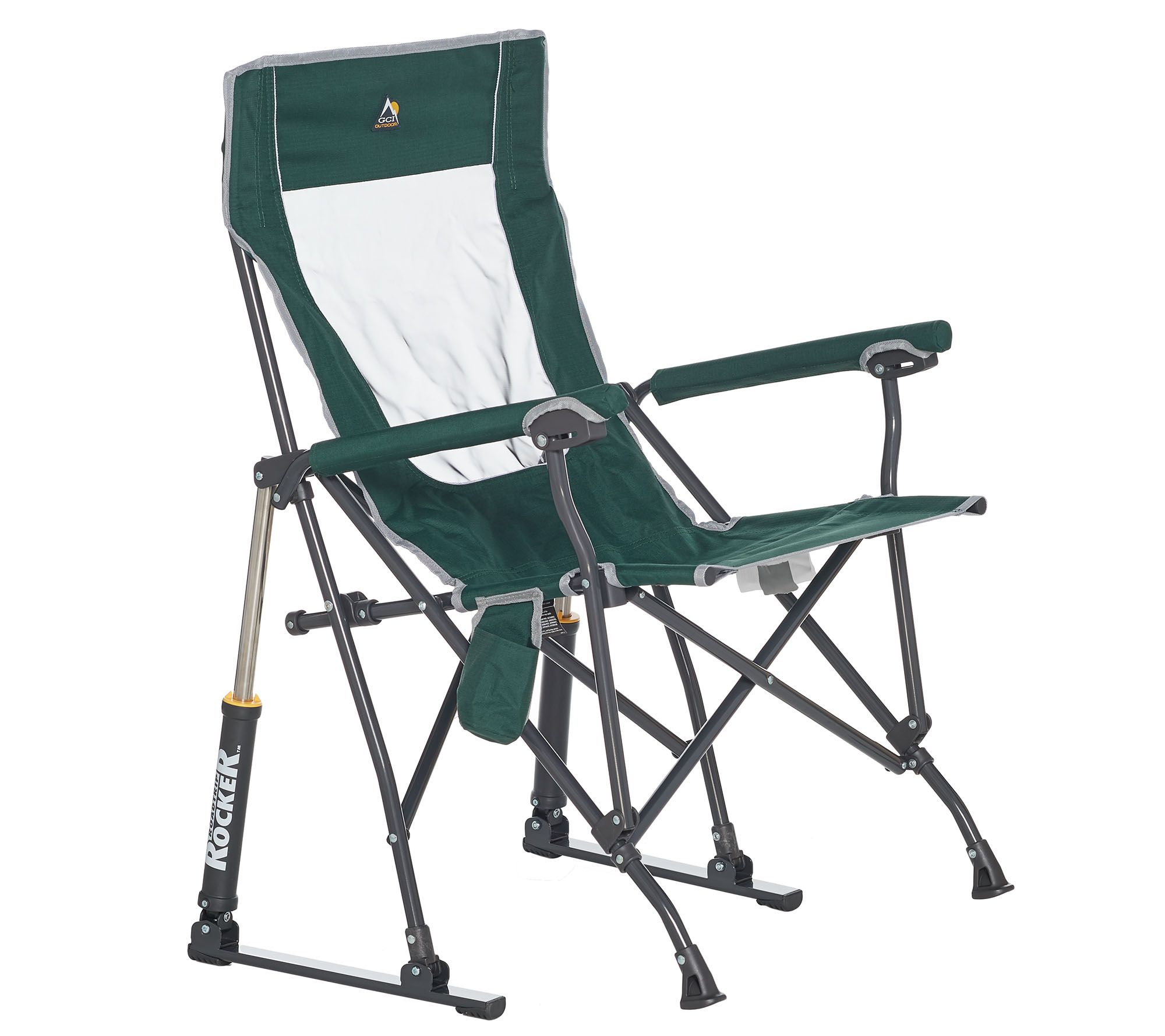 rocking bag chair volmar swivel review gci outdoor road trip rocker with carrying  qvc