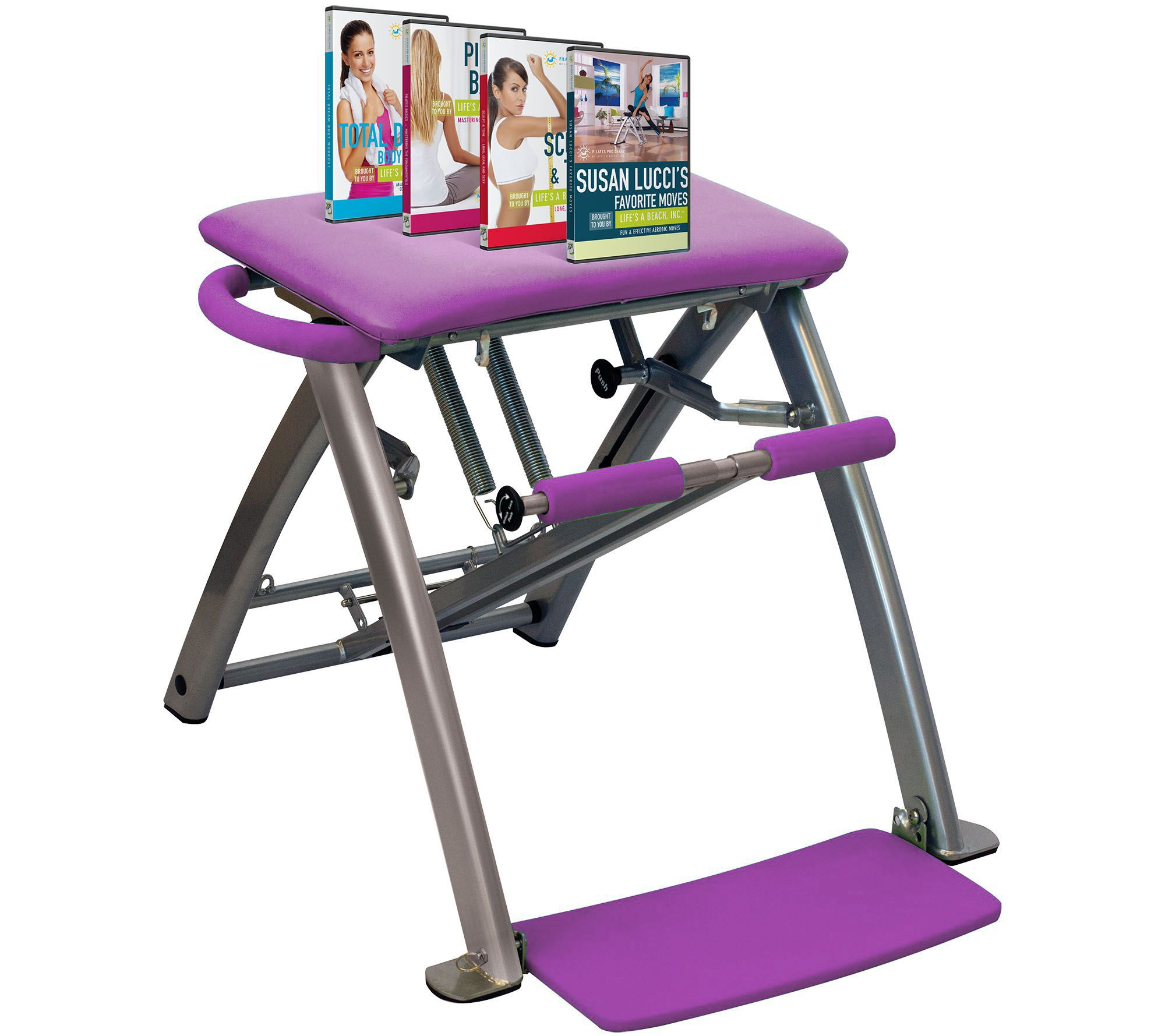 pilates chair for sale hon office guest chairs pro with 4 dvds by life s a beach page 1 qvc com