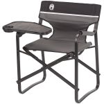Coleman Aluminum Deck Chair With Swivel Table Drink Holder Qvc Com