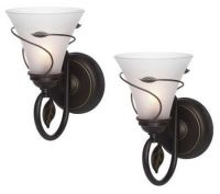 Candle Impressions S/2 Vine Wrapped Flameless Sconces w ...