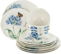 Lenox Butterfly Meadow 12pc Porcelain Dinnerware Set ...