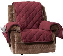 "Sure Fit Recliner Furniture Cover With 1"" Memory Foam Seat"