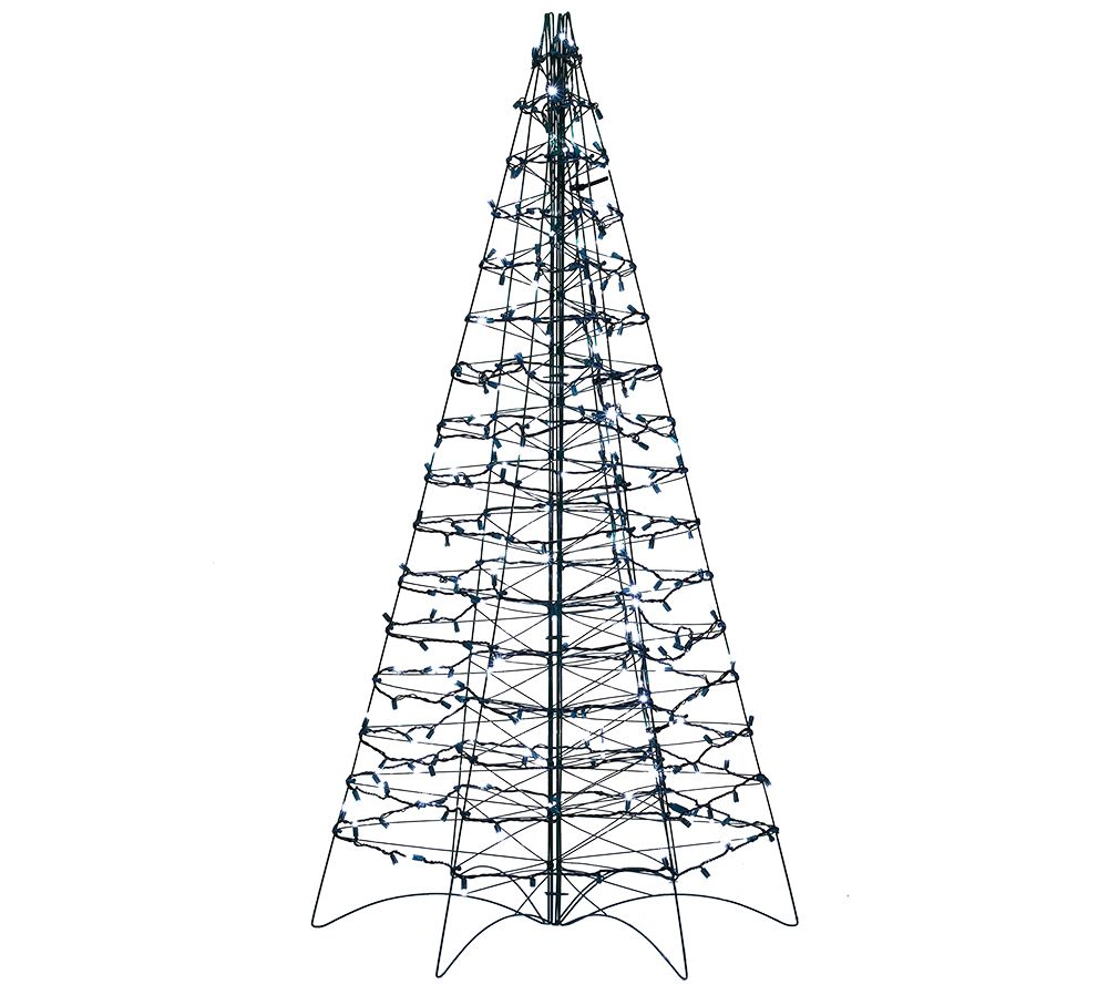Pre-Lit LED 5' Fold Flat Outdoor Christmas Tree by Lori