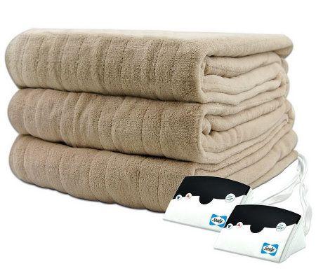 Biddeford Microplush King Size Heated Blanket — QVC.com