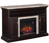 Twin Star Brighton TV/Media Mantel Fireplace with Remote ...