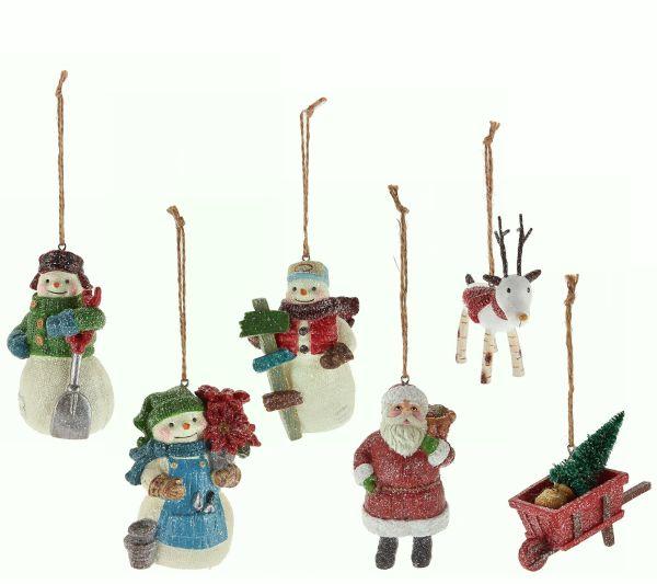 Hallmark Set of 6 35quot Designer Iconic Holiday Ornaments