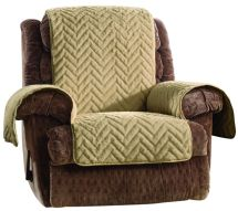 Sure Fit Sheared Faux Fur Recliner Furniture Cover - Page