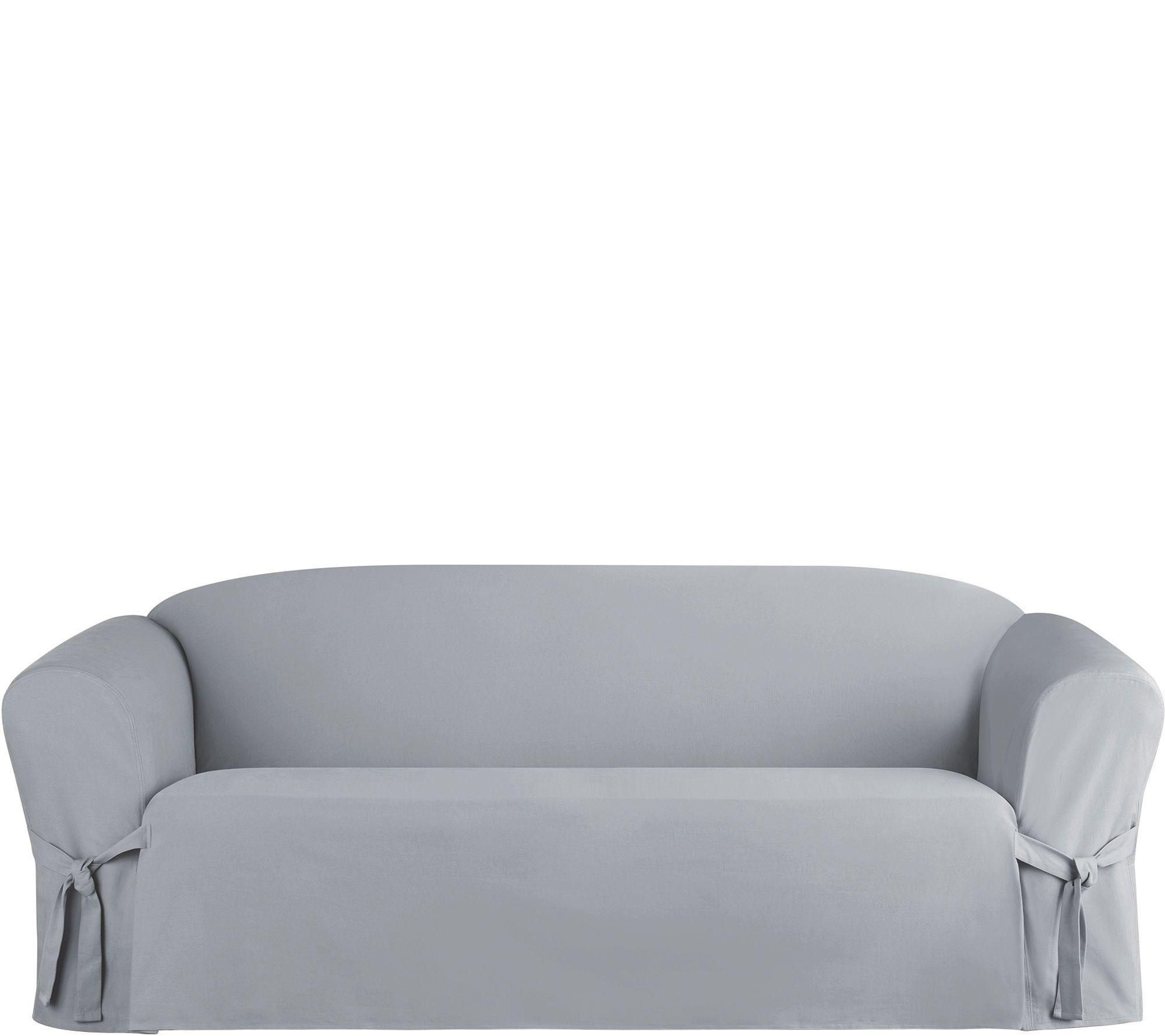 sure fit cotton duck sofa slipcover modern sofas for cheap heavyweight slip cover  qvc