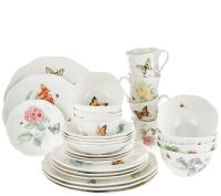Lenox Butterfly Meadow 28-piece Porcelain Dinnerware Set ...
