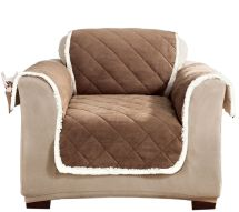 Sure Fit Reversible Suede-sherpa Chair Furniture Cover