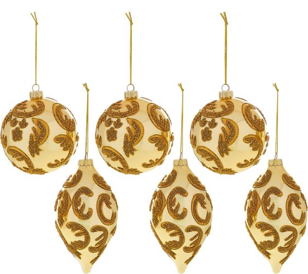 Set of 6 Beaded Ornaments by Valerie Page 1 QVCcom