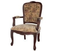 Thomas Pacconi Hand Carved Upholstered Queen Anne Arm ...