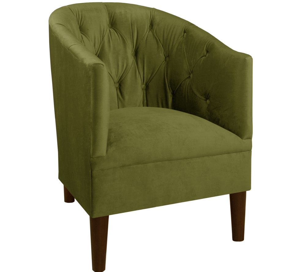 Tufted Tub Chair in Velvet by Valerie  QVCcom
