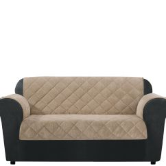 Sofa Chair Covers Amazon Homedics Back Massager Sure Fit Loveseat Furniture Cover With Textured Pique
