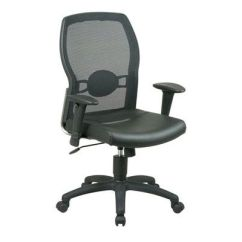 Office Chair Qvc Small Rocking Chairs Easy Pay Offers Com Star Black Screen Back With Leather Seat H154976