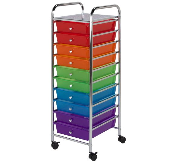 Honey- 10-drawer Multicolor Storage Cart
