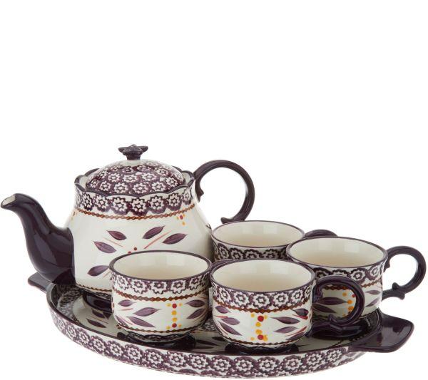 Temp-tations World 6-pc Tea Set Withdeep Dish Lid