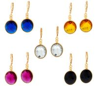 Joan Rivers Set of 5 Faceted Oval Earrings  QVC.com