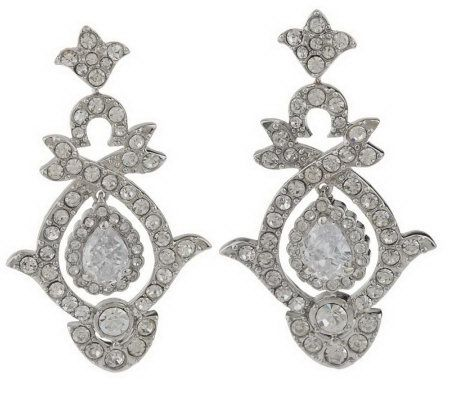Kenneth Jay Lanes Wedding Day Earrings  Page 1  QVCcom