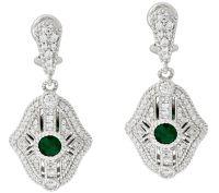 Judith Ripka Sterling Gemstone & Diamonique Earrings  QVC.com