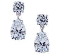 Diamonique Sterling Dangle Earrings  QVC.com
