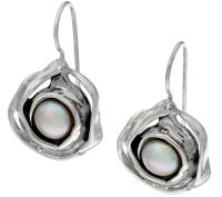 Hagit Sterling Silver Cultured Pearl Earrings - Page 1 ...