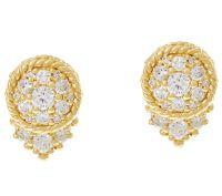 Judith Ripka 14K Gold 1/2 cttw Diamond Stud Earrings ...