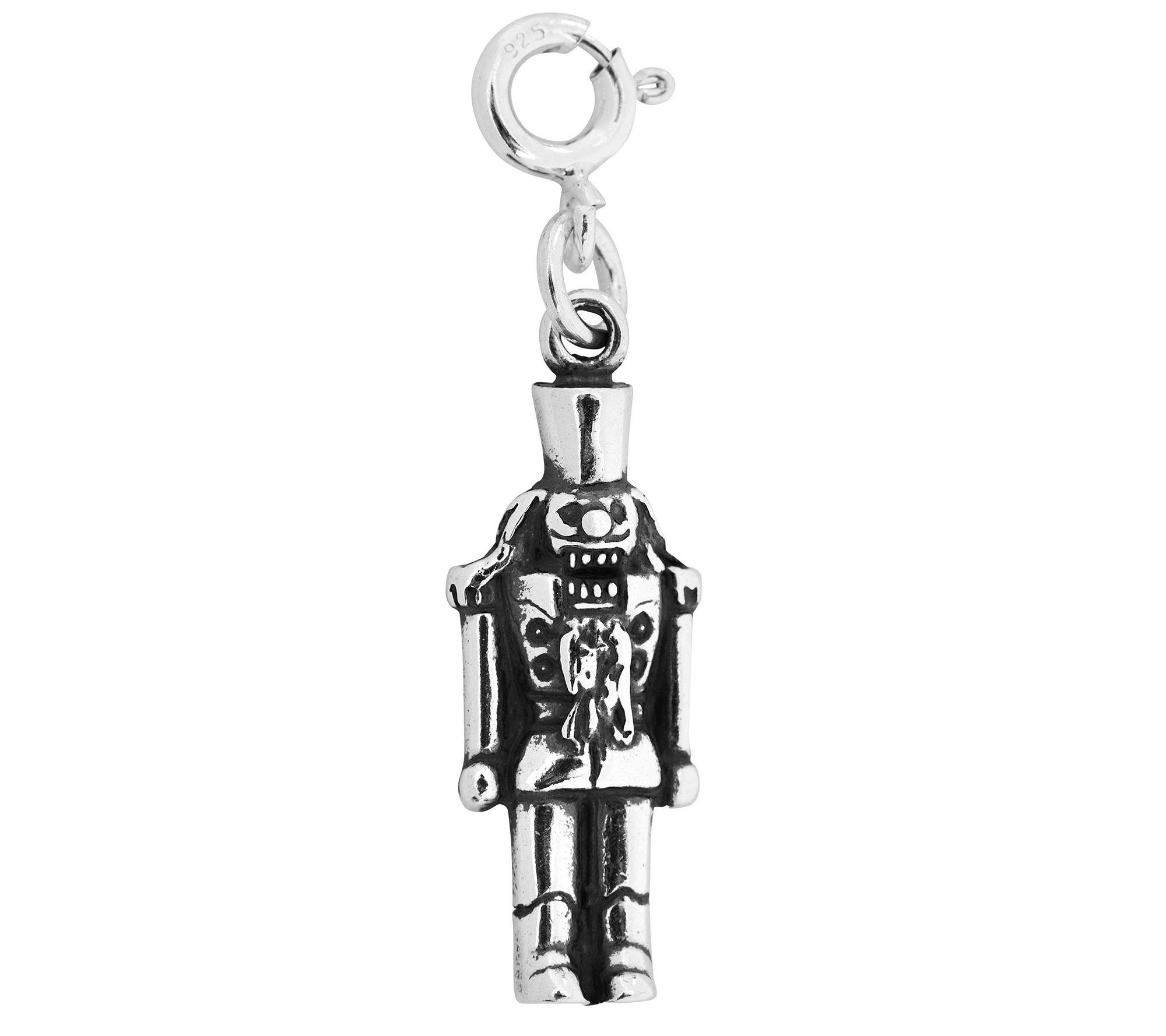 Sterling Silver Nutcracker Charm — QVC.com